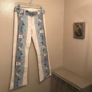 alice & olivia nautical jeans